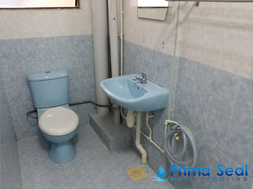 Common Bathroom Waterproofing Hdb Hougang Ave 7 Prima Seal Waterproofing Singapore