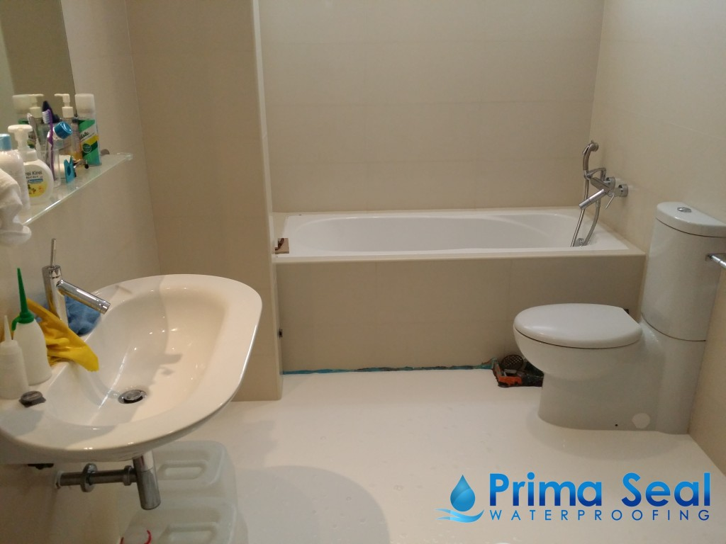 Master bathroom waterproofing landed coronation drive