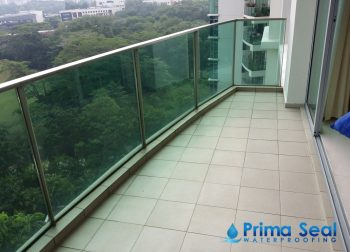 Balcony Waterproofing Singapore (Condo – The Marbella, Mount Sinai Rise)