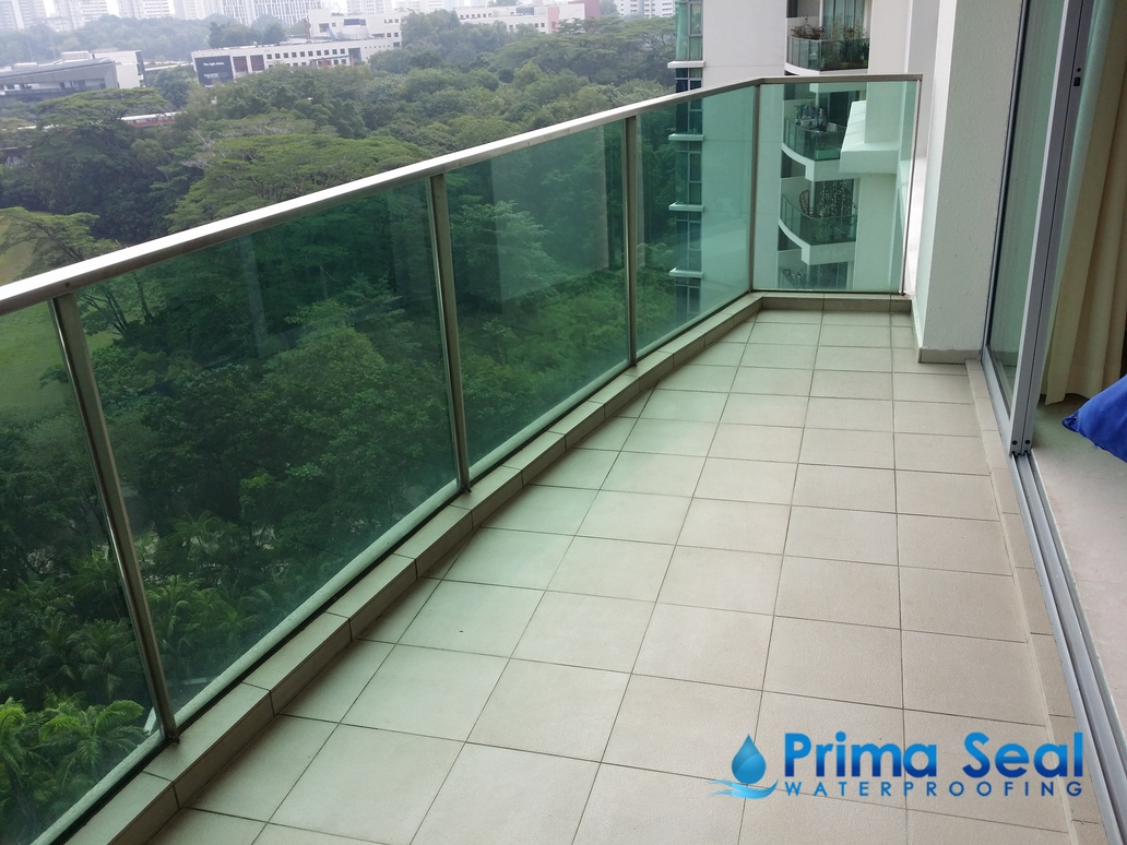 Balcony waterproofing singapore condo the marbella for 34 boon leat terrace
