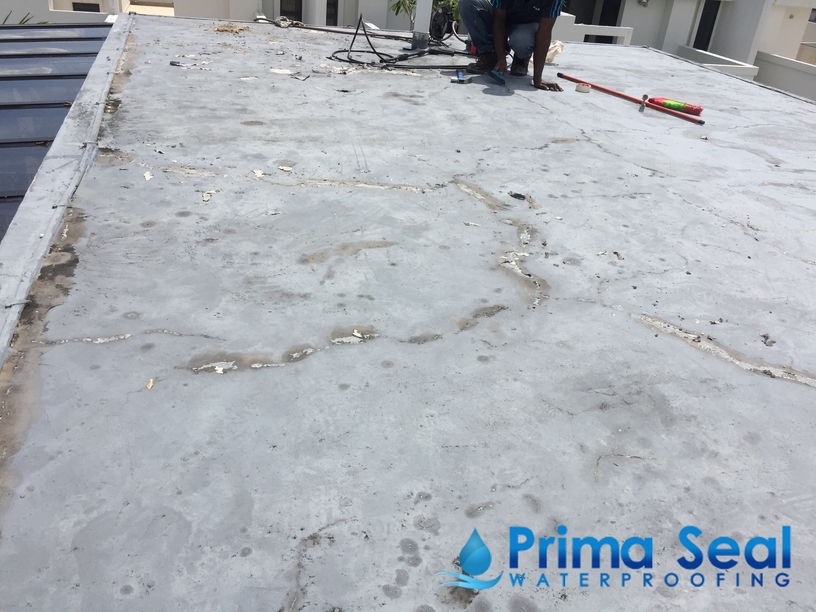 Concrete roof waterproofing singapore layer
