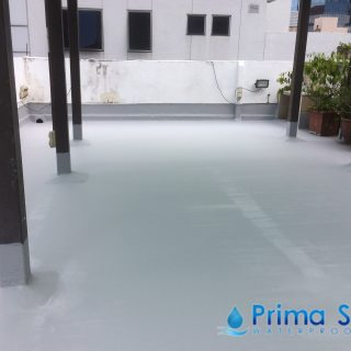 5 Layers Acrylic Waterproofing Membrane Fibreglass reinforced concrete roof waterproofing singapore commercial south bridge road 5