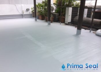 5 Layers Acrylic Waterproofing Membrane (Fibreglass Reinforced) Concrete Rooftop Waterproofing Singapore Commercial Building – South Bridge Road