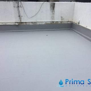 5 Layers Acrylic Waterproofing Membrane Fibreglass reinforced concrete roof waterproofing singapore commercial south bridge road 8