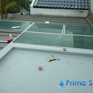 5 Layers Acrylic Waterproofing Membrane Fibreglass reinforced balcony waterproofing singapore landed bukit timah 5