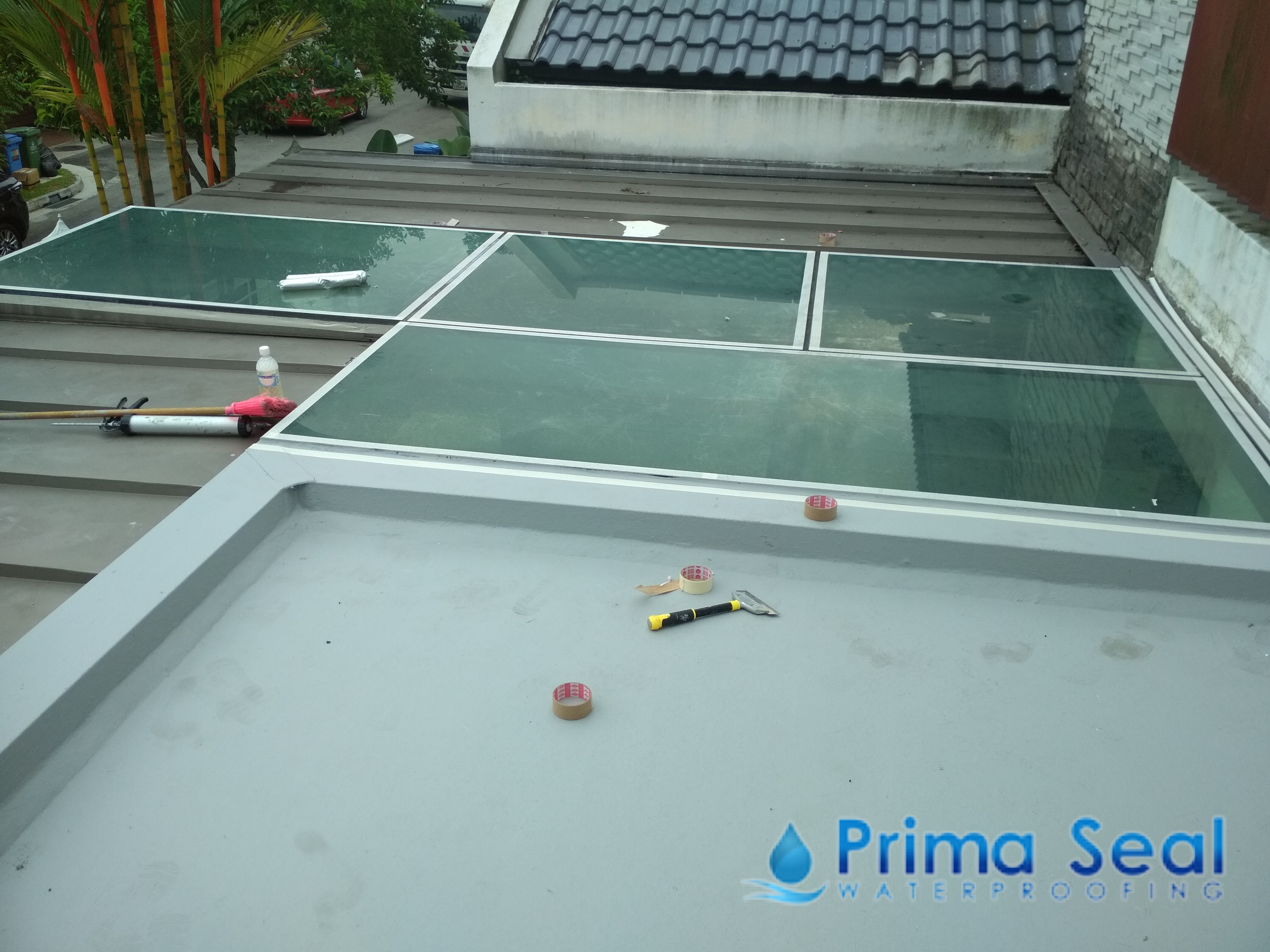 Reinforced Concrete R C  Flat Roof - Prima Seal Waterproofing Singapore