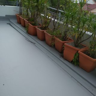 5 Layers Acrylic Waterproofing Membrane Fibreglass reinforced balcony waterproofing singapore landed bukit timah 7
