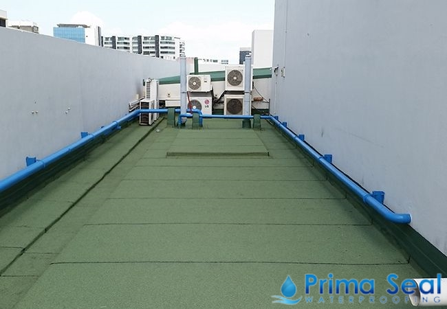 Reinforced Concrete R C Flat Roof Prima Seal Waterproofing Singapore
