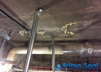 Concrete ceiling PU Injection Treatment Waterproofing Singapore, Condo, Bukit Timah Road