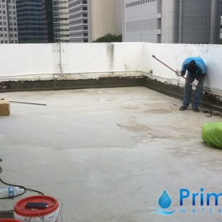 5 Layers Acrylic Waterproofing Membrane Fibreglass reinforced concrete roof waterproofing singapore commercial south bridge road 1