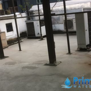 5 Layers Acrylic Waterproofing Membrane Fibreglass reinforced concrete roof waterproofing singapore commercial south bridge road 3