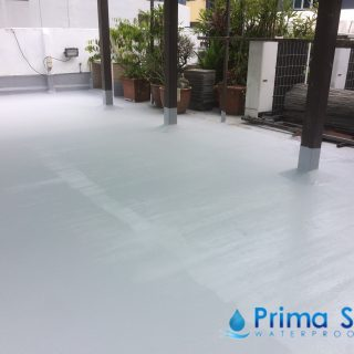 5 Layers Acrylic Waterproofing Membrane Fibreglass reinforced concrete roof waterproofing singapore commercial south bridge road 6