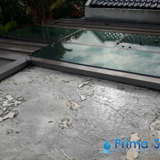 5 Layers Acrylic Waterproofing Membrane Fibreglass reinforced balcony waterproofing singapore landed bukit timah 4